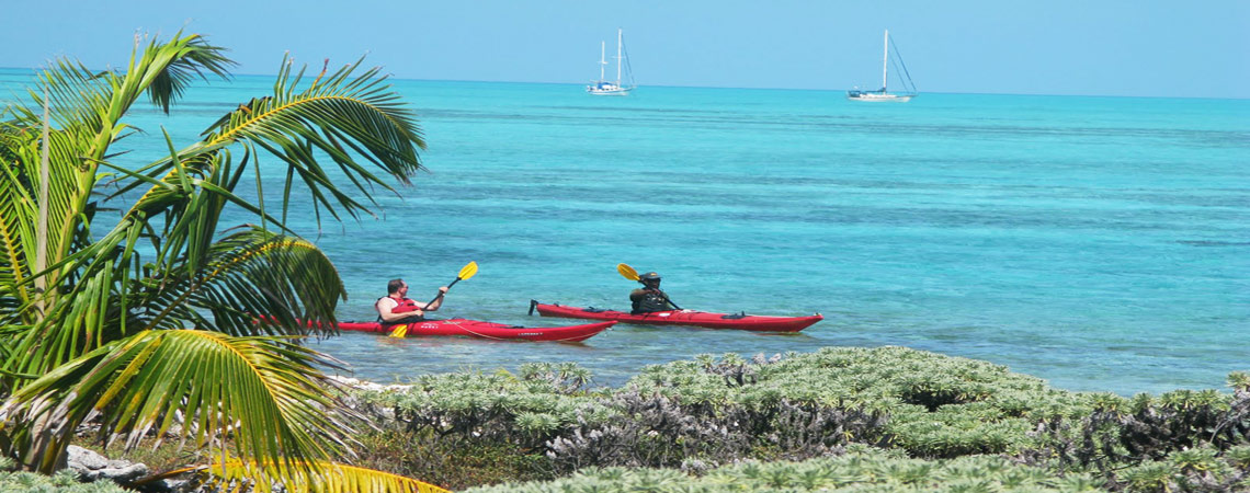 Sea kayaking in Belize